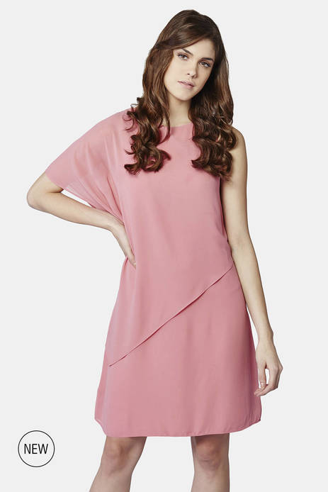 AND Rosa Blush Asymmetric Dress
