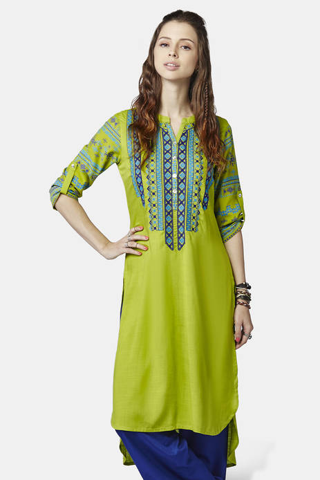 Global Desi Lime Izna Kurti
