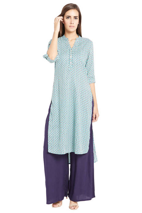 Globus Stylised Green Kurta