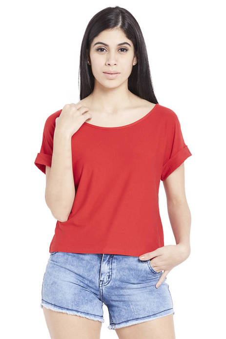 Globus Boxy Fit Red Top