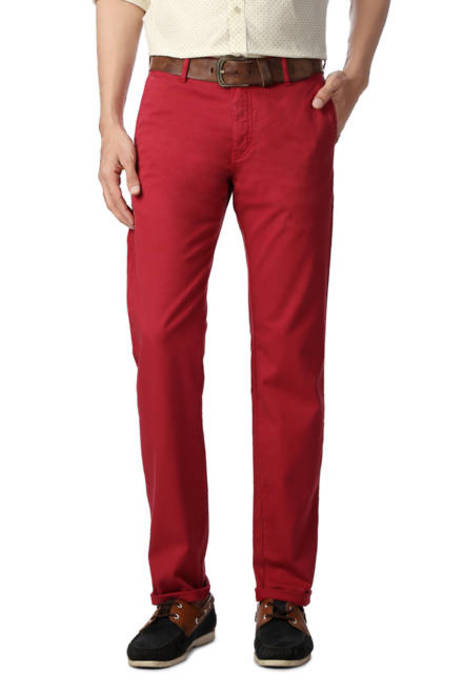 Allen Solly Red Trouser