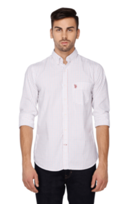 Full Sleeves Slim Fit Casual Check Shirt