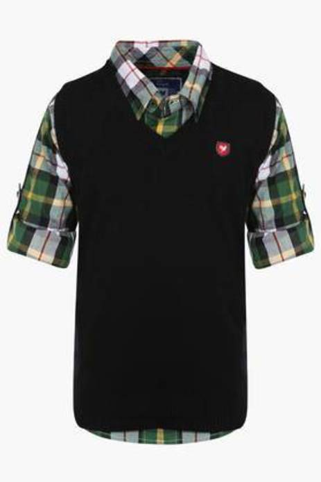 Exclusive Lines From Brands Boys Solid V Neck Sweater