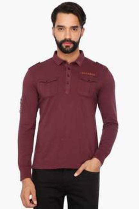 Full Sleeves Solid Polo T-Shirt