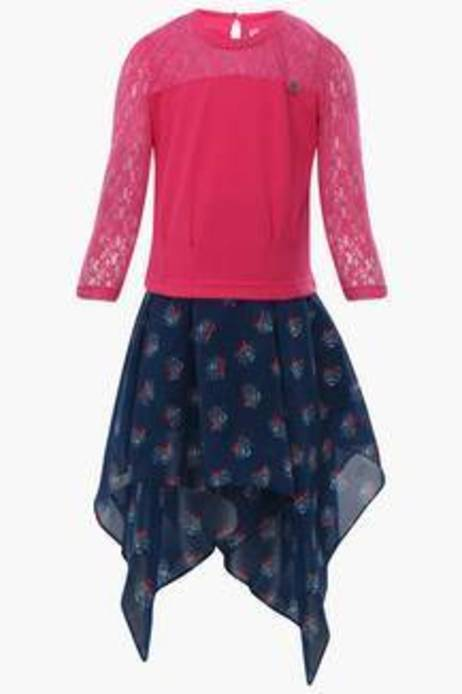 Peppermint Girls Printed Skirt And Top Set