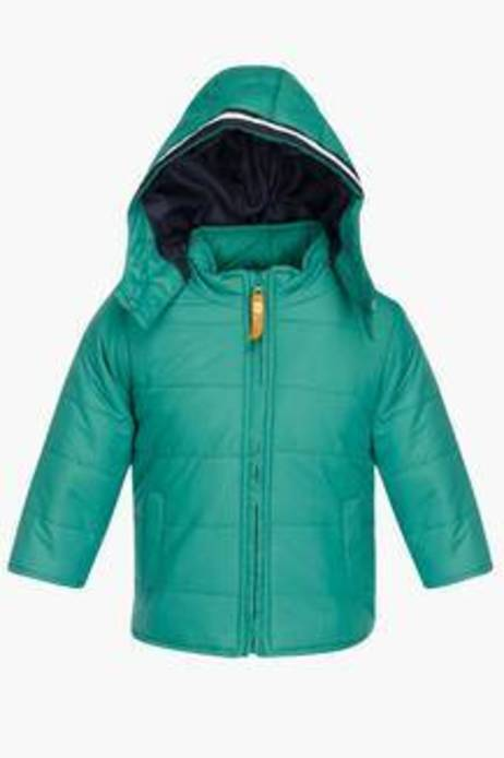 Baby League Boys Solid Hooded Jacket