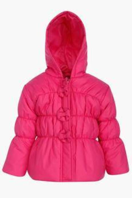 Baby League Girls Solid Hooded Jacket