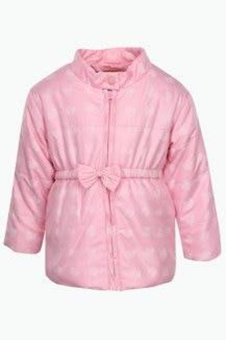 Baby League Girls Printed High Neck Jacket