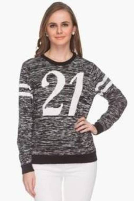 Life Round Neck Printed Pullover