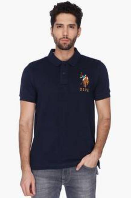 Short Sleeves Slim Fit Solid Polo T-Shirt