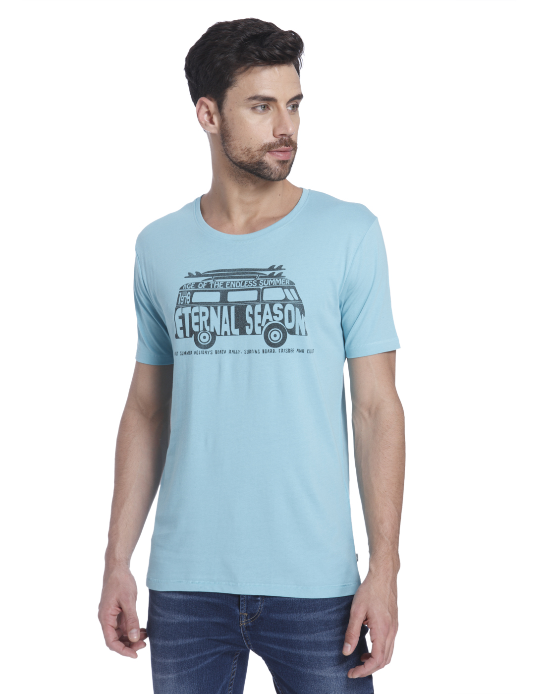 Only n Sons Men Blue T-shirt