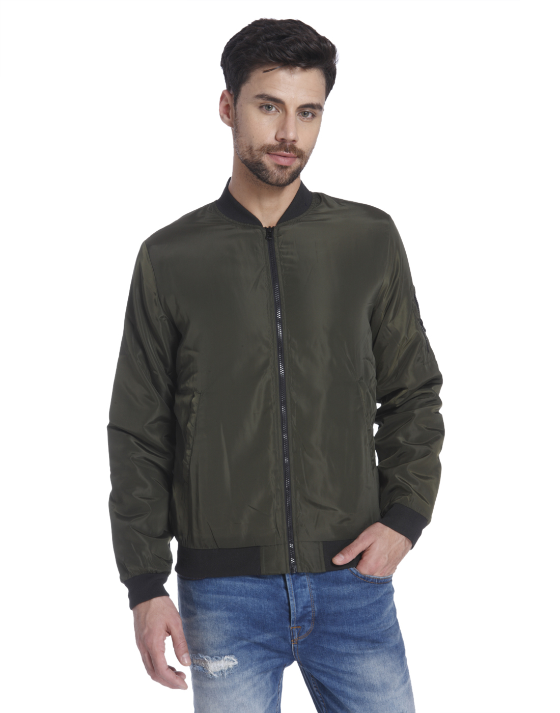 Only n Sons Men Green Jacket