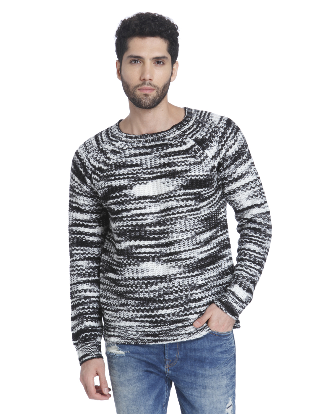 Only n Sons Men Grey Sweater