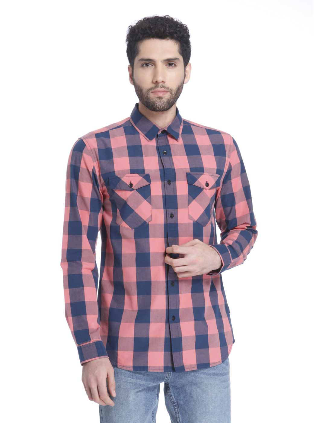 Only n Sons Men Pink Shirt
