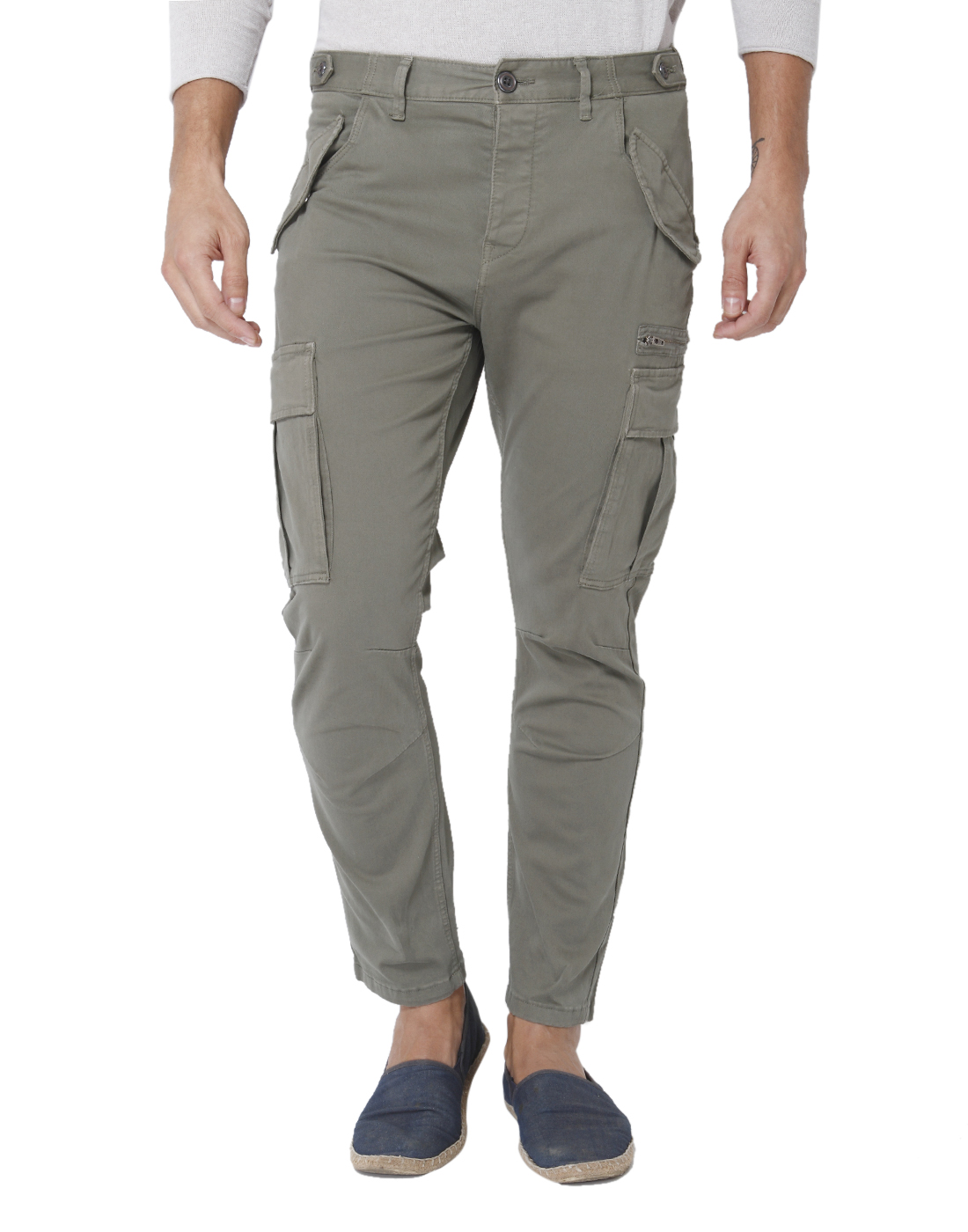 Selected Casual Solid Men Cargo Pants