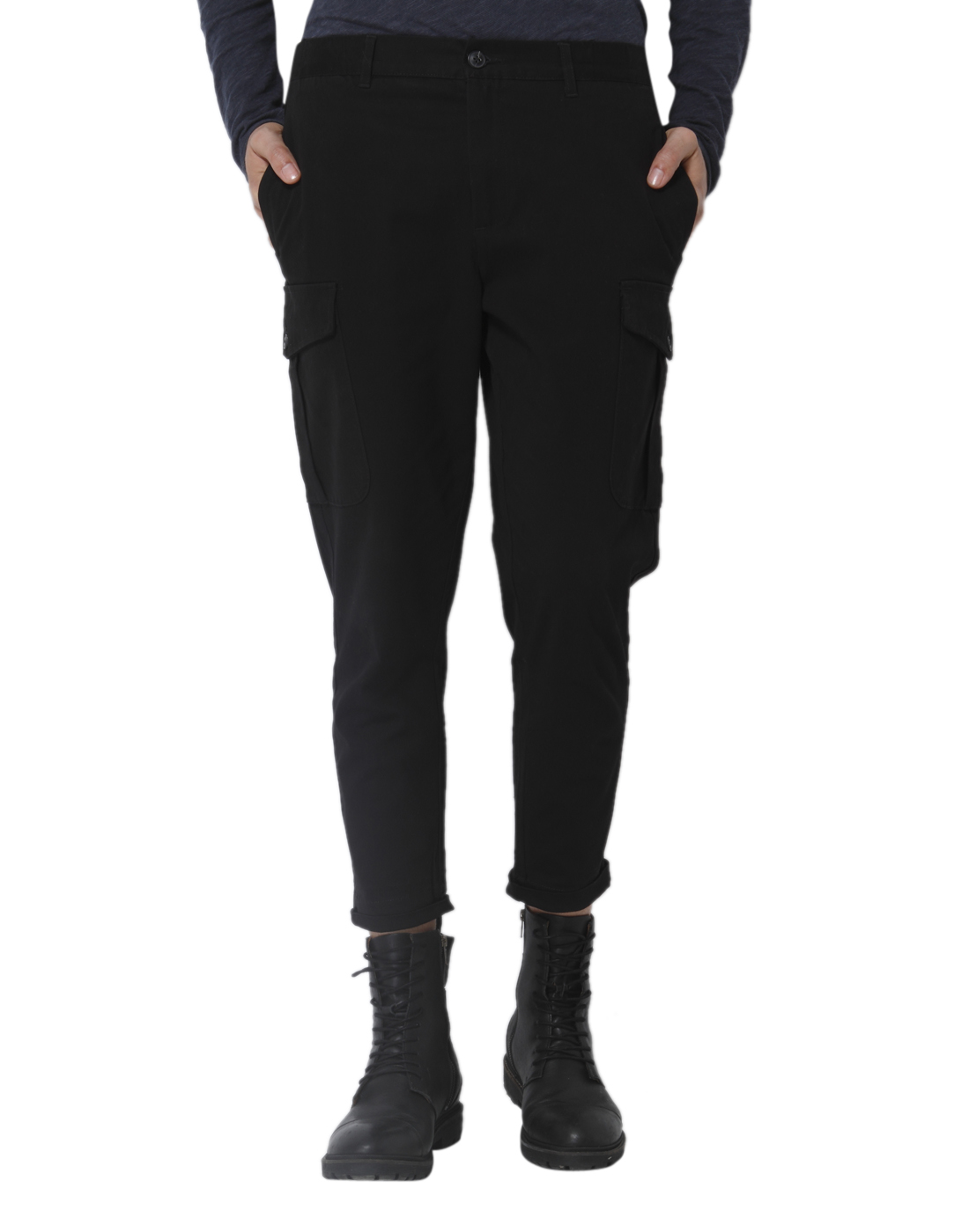 Selected Men Black Cargo