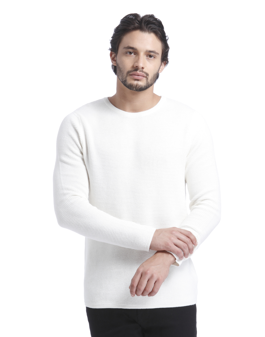 Selected Men White Pullover