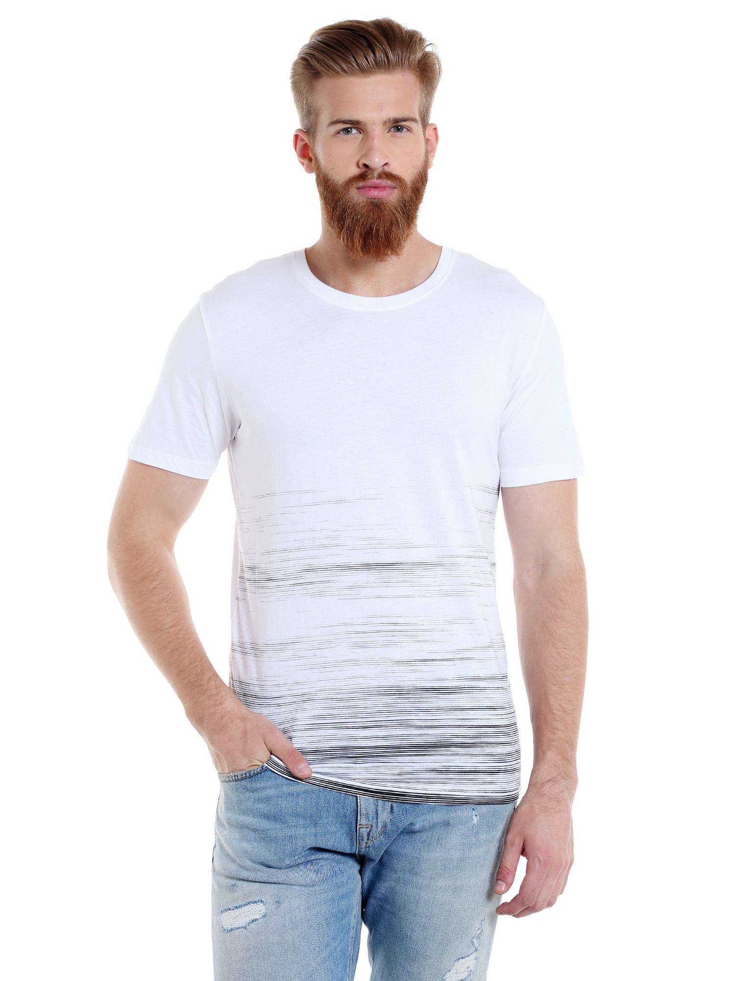 Selected Men White T-Shirts & Tops